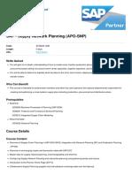 Supply Network Planning APO SNP