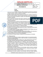 CAP 5 Procedimientos Rev 01 Manual Del SIG Para Empresas Contratistas