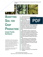 Acidifying Soil