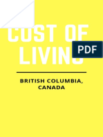 Canadian Economy- Cost of Living- British Columbia Guide