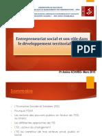 Entrepreneuriat Social Et Son Rôle Dans Le Développement Territorial Et Local