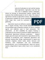 Agricultural Inputs and Methods
