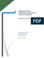 Inspeccion Visual e Inventario de Daños de Un Tramo de Carretera