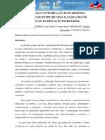 Valorizacao e Contemplacao Do Patrimonio Historico Do Municipio de Cruz Alta
