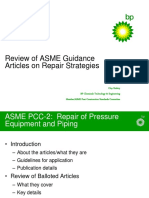 ASME Guidance Articles on Repair Strategies - C. Rodery