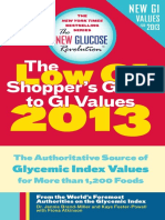 Low Glycemic Index Guide 2013