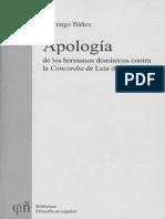 Domingo Bañez, Apología