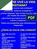 2009-09-27  CÓMO VIVIR LA VIDA CRISTIANA