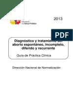 GPC Aborto espontáneo, incompleto, diferido y retenido