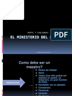 El Ministerio Del Maestro ded