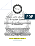 State Law Guide for Professional Hypnosis (ICBCH)