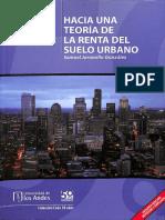Hacia Una Teoría de La Renta Del Suelo Urbano - Samuel Jaramillo