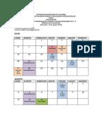 Cronograma Módulo Evaluación 2015 II