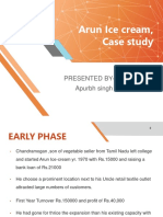 Arun Ice Cream,Case Study