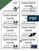 Sticker Carlos Daniel