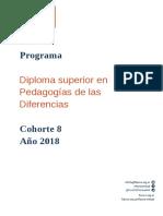 Pedagogía de las diferencias 2018