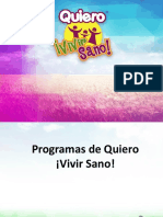 Programas y Ministerios de QVS