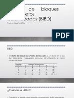 Diseño de Bloques Incompletos Balanceados (BIBD)