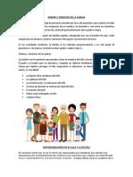 Deberes y Derechos en La Familia
