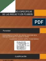 2.1 Propiedades Especificas de Las Rocas y Los Fluidos