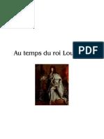 Au temps du roi Louis XIV