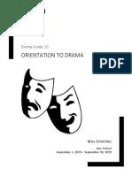 drama grade 10 unit plan orientation