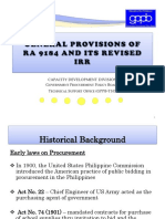 General Provisions of RA 9184 and Its IRR