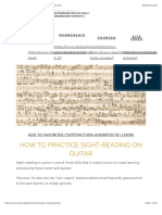 How to Sight-Read on Guitar