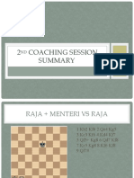 2nd Coaching Session Summary