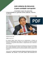 Implementarán sistema de denuncia empresarial para combatir corrupción