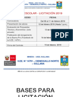 Convocatoria Kiosco Escolar 2019