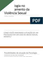 A Psicologia No Enfrentamento Da Violência Sexual