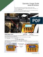 Forklift onboard impact detection, Operator Guide Defender V130