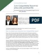 Synastry Report Sample Angelina Jolie Brad Pitt