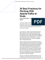 20 Best Practices for Working With Apache Kafka at Scale - DZone Big Data