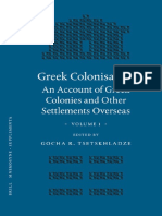 Tsetskhladze Ed., Greek Colonisation. an Account of Greek Colonies and Other Settlements, 1