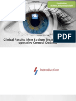 Clinical Results After Sodium Treatment in Post-operative Corneal Oedema