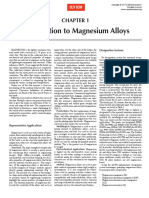 Introduction to Magnesium Alloys