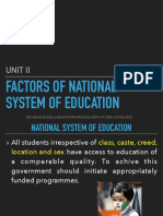 Factors of National Education