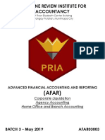 PRIA AFAR03003 Corporate Liquidation and Home Office and Branch Accounting No Answer