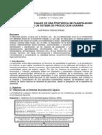 Aspectos Proyectuales en Planificación de Un Sistema de Producción Agraria