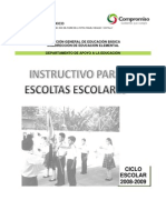 Instructivo Para Escoltas Escolares
