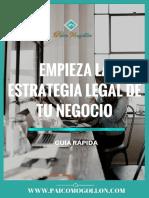 Cómo Empezar La Estrategia Legal de Tu Negocio Online