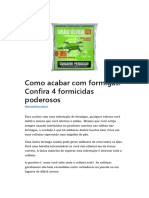 4 Produtos Para Controle de Formigas