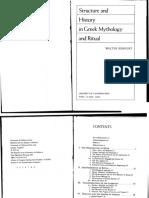 Μποθρκετ Γουολτερ,  Walter, Δομή και Ιστορία της Ελληνικής Μυθολογίας και Τελετουργίας