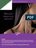 Cervical Dystonia Patient Brochure