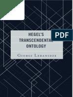 Hegels Transcendental Ontology 1