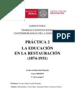 Educación en la Restauración