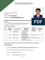 Prasanth Resume 1