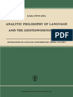 (Foundations of Language) Karl-Otto Apel (auth.)-Analytic Philosophy of Language and the Geisteswissenschaften-Springer Netherlands (1967).pdf